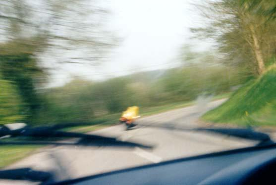 FJ, pursued by Porsche 3, having trouble holding camera steady