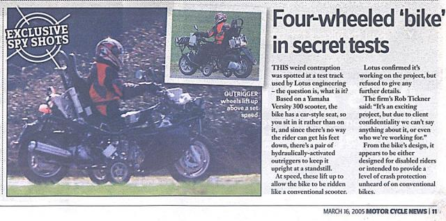 MCN article of Lotus/Yamaha FF?