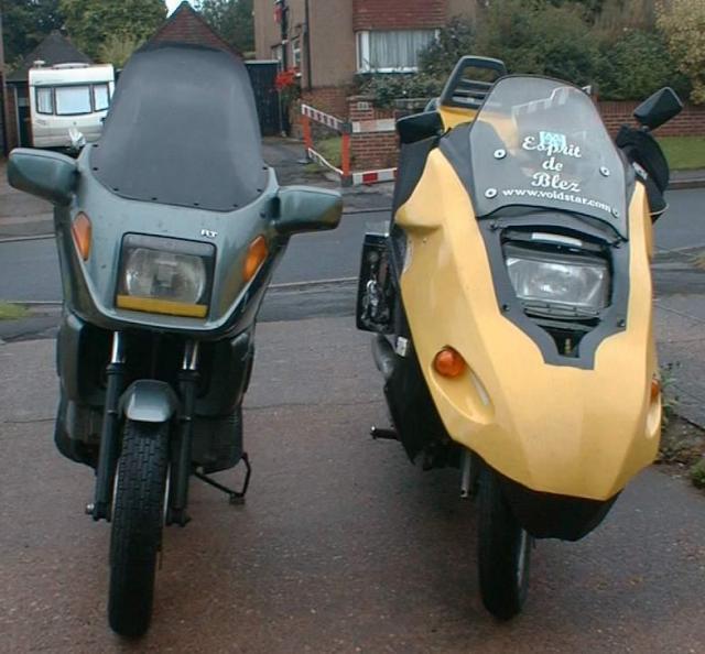 Bananaskin/BMW K100RT comparison