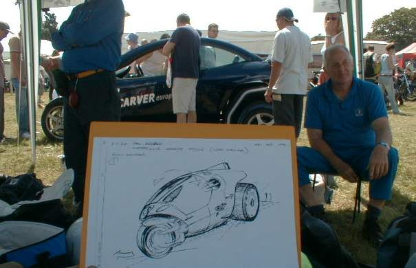 John Keogh concept sketch and Carver adhere to classic lines (Pic courtesy Paul Blezard Archive)